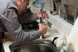 dishwasher air gap leaking under sink